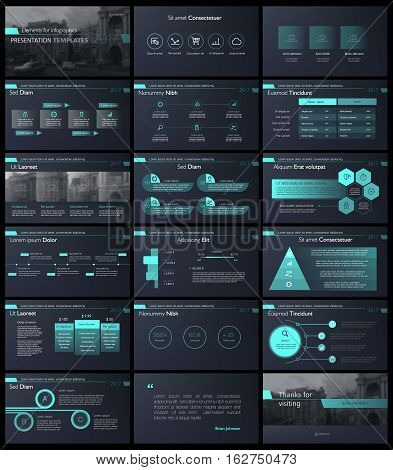 Black blue infographic elements for presentation templates. Leaflet, Annual report, book cover design. Brochure, layout, Flyer layout template design.
