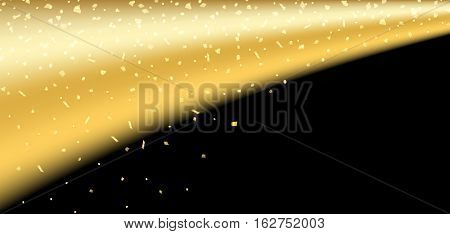 Gold Black Confetti Background