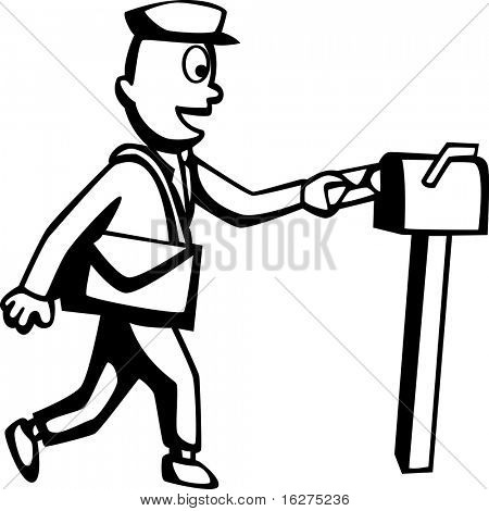 mailman and mail box