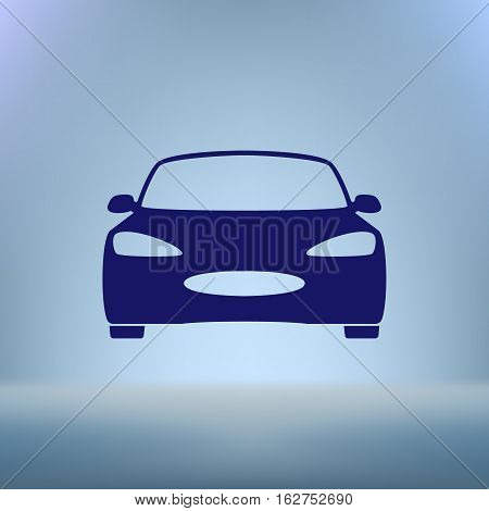 Flat Paper Cut Style Icon Of A Car