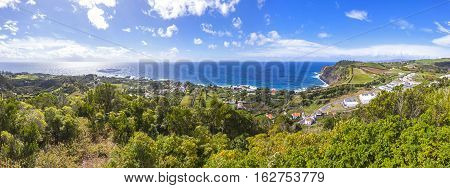 Picturesque Panoramic View Of Sao Miguel Island, Azores, Portugal
