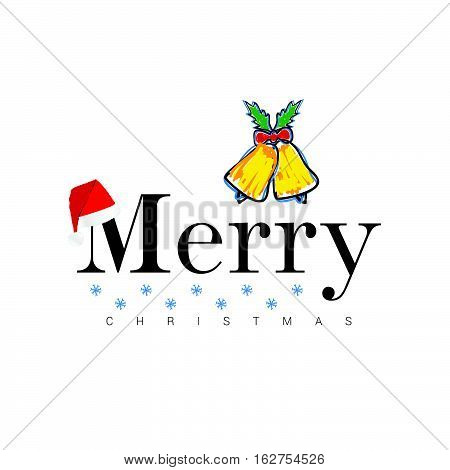 Merry Christmas Icon In Colorful Illustration