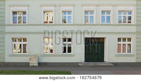 Facade Of A Historical House In Greifswald, Mecklenburg-west Pomerania, Germany