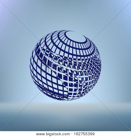 Wire-frame Design Element. Sphere