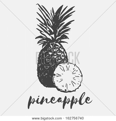 pineapple exotic fruit half organic and wholesome vegan