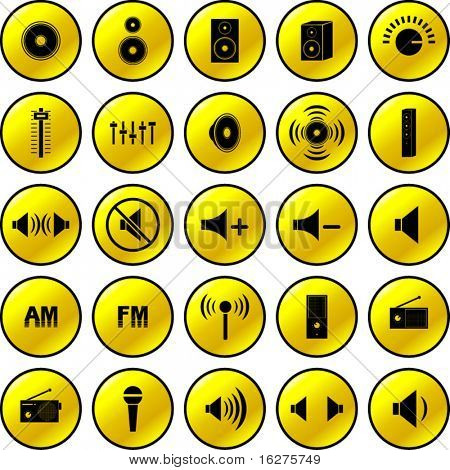 audio and sound button collection