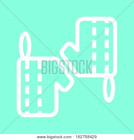 Oven glove icon in trendy flat style isolated on grey background. Kitchen symbol for your design, logo, UI. Vector illustration, EPS10.