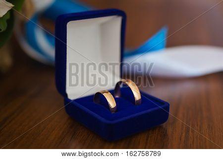 wedding bands wedding rings in the blue box wedding jewelry wedding preparation