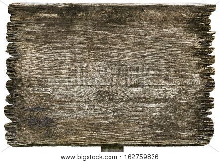old wood planks sign textures isolated on white background