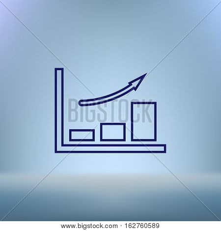 Flat Paper Cut Style Icon Of A Diagram