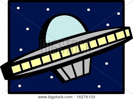 ufo ship in the space