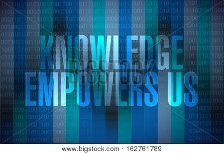 Knowledge Empowers Us Binary Background