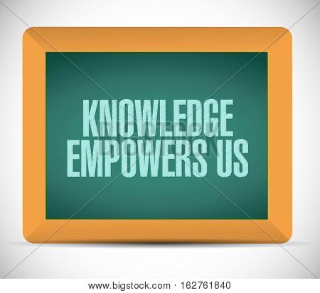 Knowledge Empowers Us Chalkboard Sign Concept