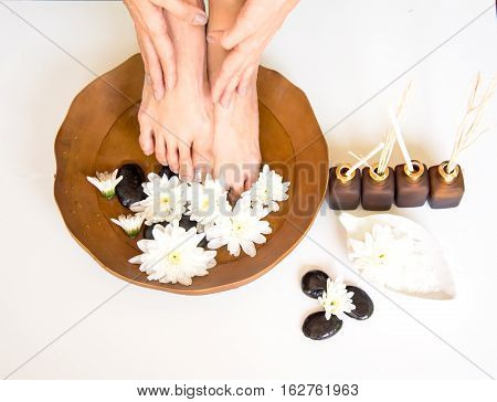 Spa treatment and product for female feet spa Thailand. select and soft focus