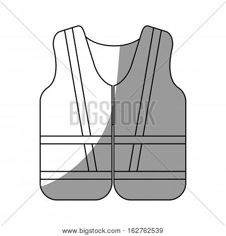 Jacket icon. Industrial security safety and protection theme. Isolated design. Vector illustration