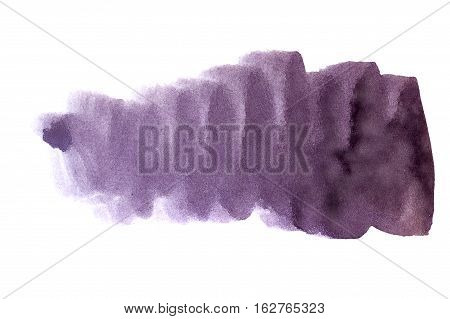 Purple watercolor background. The gradient transition of color from deep purple to light purple. Design elements. Painting. Grunge colorful background on watercolor paper.