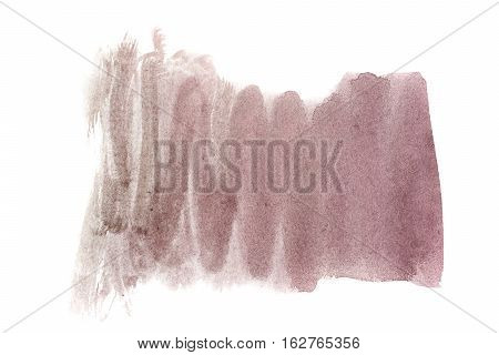 Umber watercolor background. The gradient color transition from a saturated to light umber. Design elements. Painting. Grunge colorful background on watercolor paper.