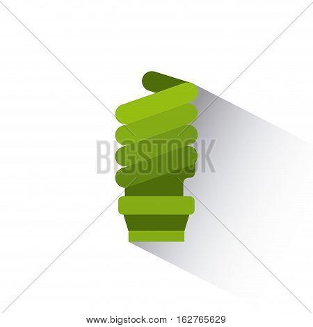 green bulb light icon over white background. colorful design. vector illustration