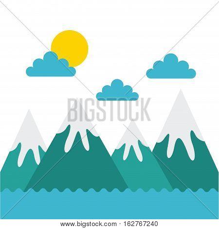 mountains landscape. colorful design. vector illustration EPS10