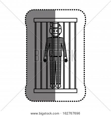 Guilty icon. Law justice legal judgment and crime theme. Isolated design. Vector illustration