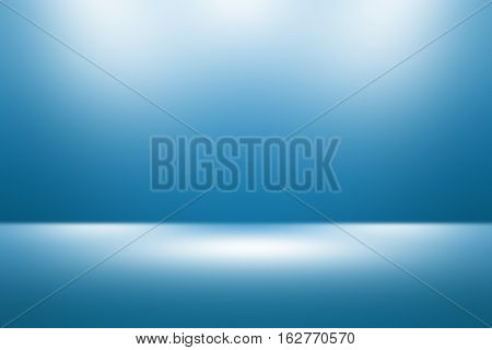 3D illustration background / Abstract dark blue empty room studio gradient used for background and display your product