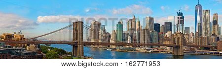 Brooklyn Bridge And Cityscape Of New York