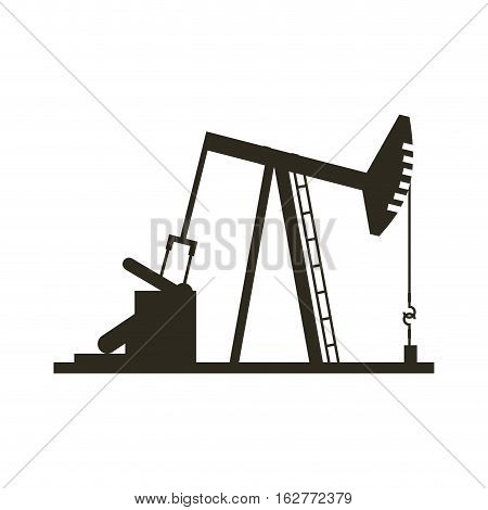 oil industry rig factory icon over white background. vector illustration