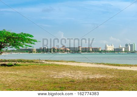 Panorama View Of The Image Taken From Malmok Beach