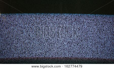 Television signal tv noise flicker screen with static caused by bad reception