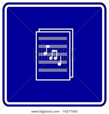 sheet music sign