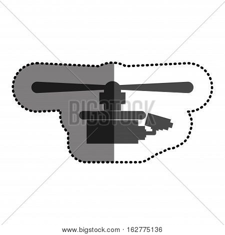 Drone icon. Technology remote aircraft uav spy and robot theme. Isolated design. Vector illustration