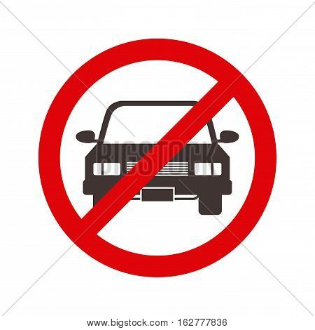 forbidden sign of parking zone icon over white background. vector illustration