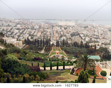 Haifa. Panoramic View Of Haifa City In Israel