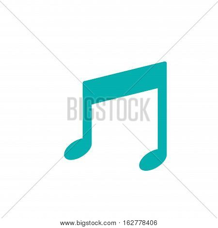 Music note icon. Sound melody and pentagram theme. Isolated design. Vector illustration