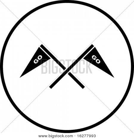 gehen Jubel Flaggen-symbol