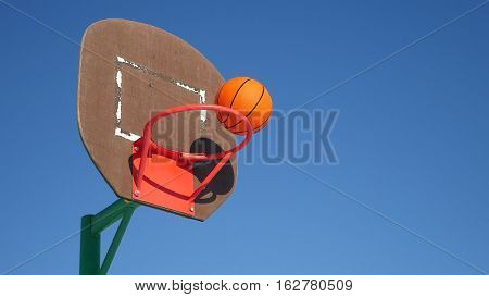 old basketball hoop, street basketball throw sport the ball in basket