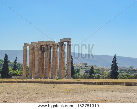 View Of The Temple Of Olympian Zeus