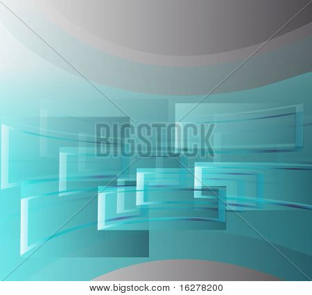 Corporate Business- Template Background-blu and gray windows. poster