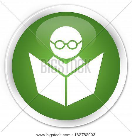 Elearning Icon Premium Soft Green Round Button
