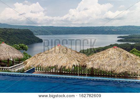 pool with views in masaya lagoon Nicaragua