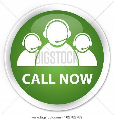 Call Now (customer Care Team Icon) Premium Soft Green Round Button