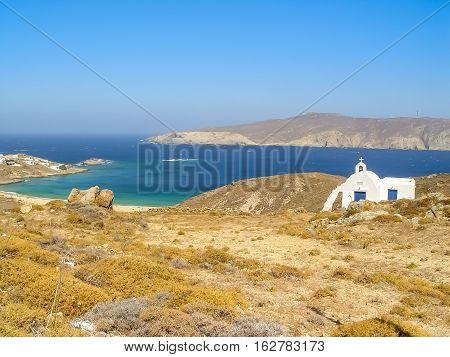 Beach In Mykonos, A Popular Island Landmark