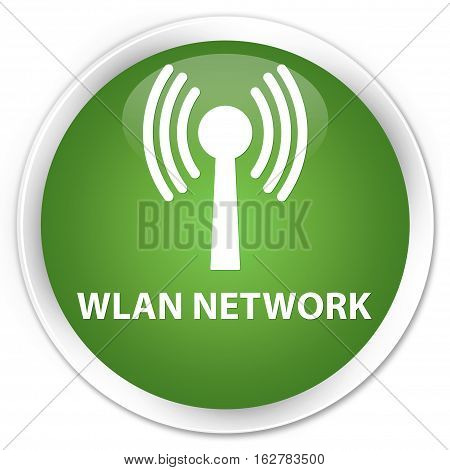 Wlan Network Premium Soft Green Round Button