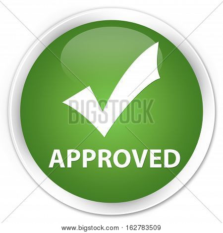 Approved (validate Icon) Premium Soft Green Round Button