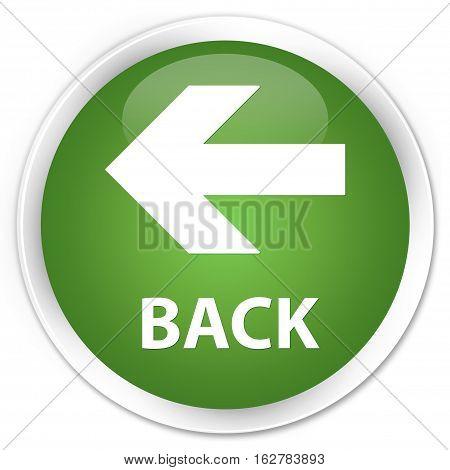Back Premium Soft Green Round Button