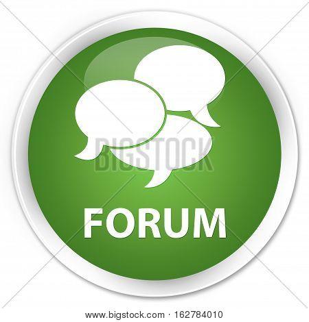 Forum (comments Icon) Premium Soft Green Round Button