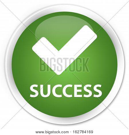 Success (validate Icon) Premium Soft Green Round Button