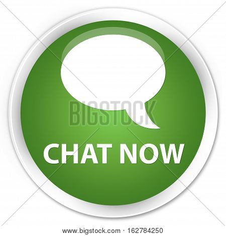 Chat Now Premium Soft Green Round Button