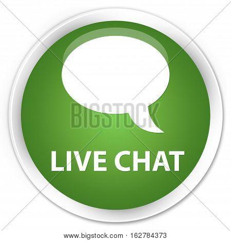Live Chat Premium Soft Green Round Button
