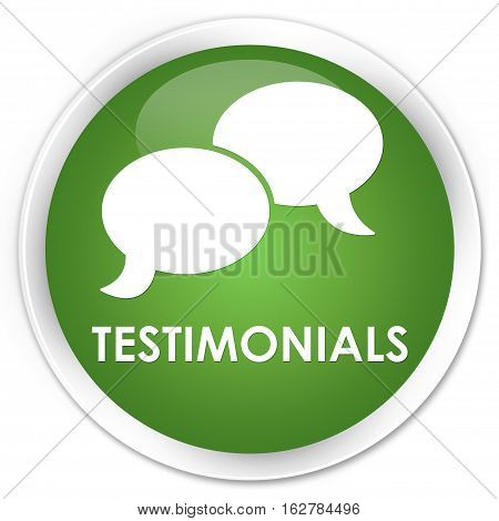 Testimonials (chat Icon) Premium Soft Green Round Button